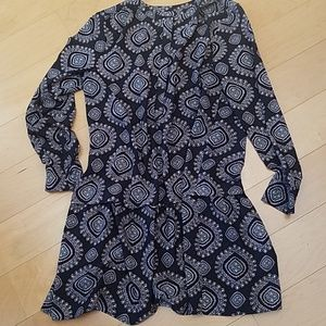 Loft Black Dress with pattern